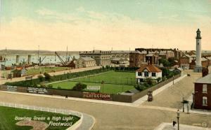 UK - England, Fleetwood. Bowling Green and High Light Lighthouse