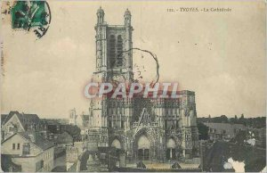 Postcard Old Troyes cathedral
