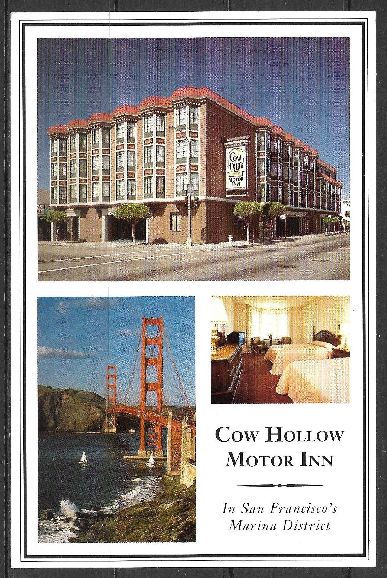 California San Francisco Cow Hollow Motor Inn Ca 291x Hippostcard
