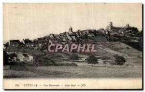 Postcard Old Vezelay Vue Generale Cote Sud