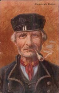 Gerstenhauer Old Dutch Men Face Characteristic Studies Salty Fishermen PC #5