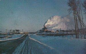 Usine de Papier Kraft Lebel sur Quevillon , ABITIBI , Quebec , 1977
