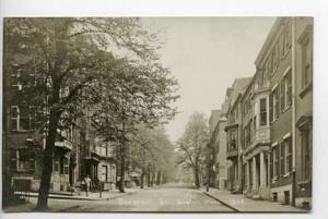 Boston MA Chestnut Street RPPC Postcard