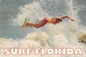 Bathing Beauty Post Card Surf Florida, USA Unused