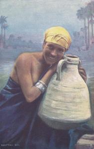 EGYPT; Egyptian Girl with Water Jug,  1900-1910s ; TUCK # 7200