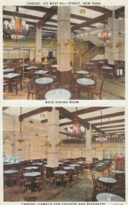 NEW YORK CITY, 1910-20s; Caruso, 125 West 45yh Street, Main Dining Room, 2-views