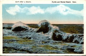 Connecticut Myrtle and Walnut Beach Surf After A Storm 1918