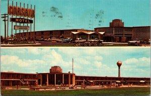 Postcard GA Georgia Jekyll Island Corsair Motel Posted 1973 Two Views Swim Pool