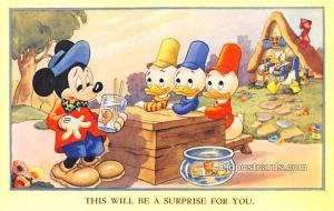 Valentine & Sons # 1741 Walt Disney Unused paper glued on back side with pape...