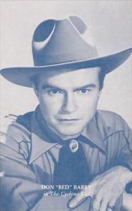 Cowboy Actor Don  Red  Barry Vintage Arcade Card