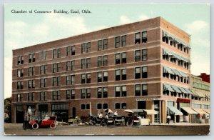 Enid Oklahoma~Chamber of Commerce~Sidewalk Vendors~Millinery~Watrous Drug~c1910