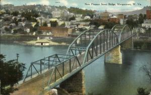Morgantown WV Pleasant St. Bridge c1910 Unused Postcard