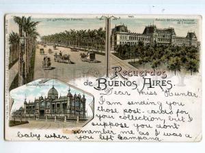 247832 ARGENTINA Recuerdos BUENOS AIRES Vintage litho postcard
