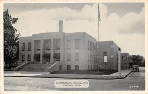 E58/ Jackson Ohio Postcard County c1940s Memorial Building