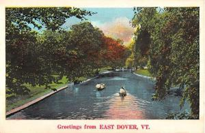 East Dover Vermont Scenic Waterfront Greeting Antique Postcard K89534