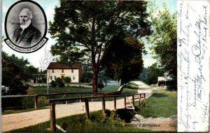 Whittier birthplace Haverhill MA old bridge c1905