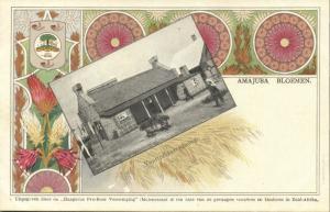 BOER WAR, Voortrekkerswoning, Pioneer Houses, Amajuba Flowers (1899) Art Nouveau