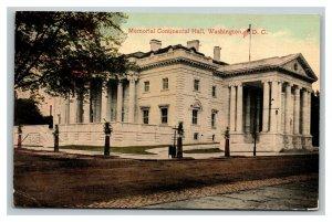 Vintage 1910's Postcard Panoramic View Memorial Continental Hall Washington DC