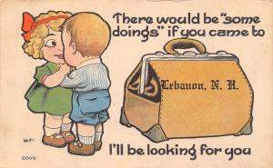 Some Doings in Lebanon New Hampshire~I'll Be Looking~Satchel Pennant~1916 PC