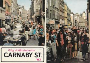 Johnny Mans TV Star Carnaby Street Fashion Shop OWNER Hand Signed Postcard