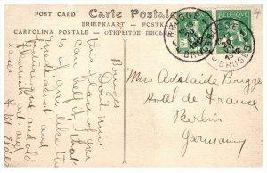9960  Belgium Bruges  1912 Postmark Cancel