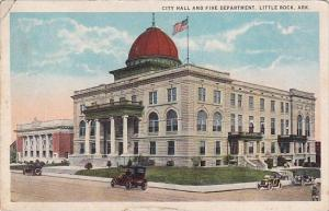 Arkansas Little Rock City Hall And Fire Department 1924