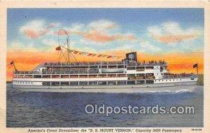 SS Mount Vernon Washington DC USA Ship Unused