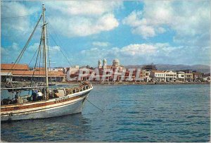Postcard Modern Cyprus and center of the wine Boat Industry