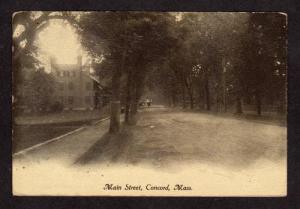 MA Main Street ST CONCORD MASS MASSACHUSETTS Postcard
