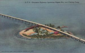 Florida Overseas Highway Spanning Pigeon Key and Fishing Camp In The Florida ...