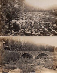 Dartmeet Bridge 2x Old Real Photo Postcard s