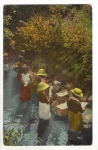 Native Indian Women Washing Clothes, 1900-1910s