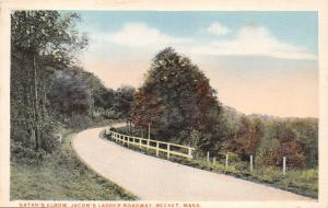 Becket Massachusettts Santan's Elbow-Jacob's Ladder Roadway POSTCARD 1920s