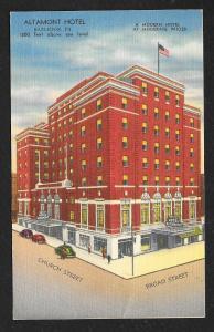Altamount Hotel Hazleton PA used c1930s