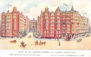 St. Ermins Hotel, St. James Park, London, England, Early Postcard, Unused