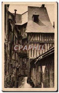 Caudebec en Caux - Old Houses - Rue de la Boucherie - Yvon - Old Postcard