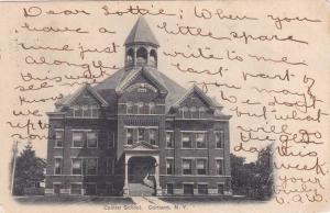 Cortland NY, New York - The Central School - pm 1906 - UDB