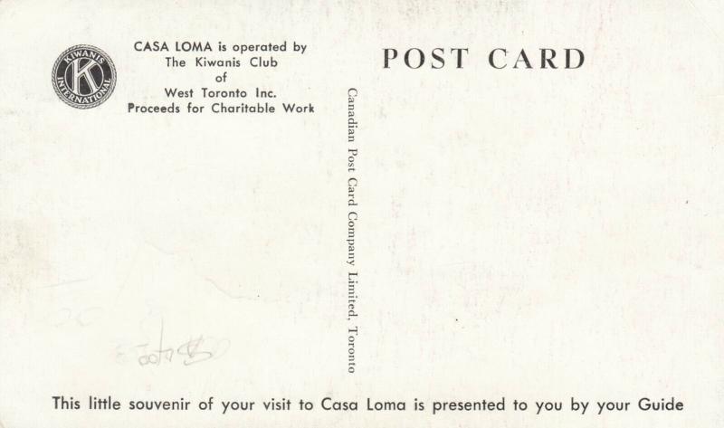 CASA LOMA , TORONTO, Ontario , 30-50s Tour Guide #11