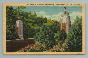 Memory Park City Creek Canyon Salt Lake City Utah UT Postcard
