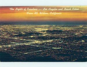 Unused Pre-1980 PANORAMIC VIEW Los Angeles California CA H9953