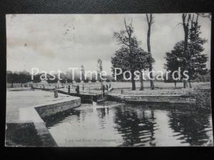 Northamptonshire NORTHAMTON LOCK & RIVER c1904