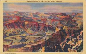 Arizona Grand Canyon Of The Colorado River 1950 Curteich