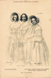 Auguste Crelinger mit Ihren Töchtern Erster Ehe 03.70