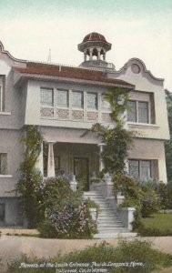HOLLYWOOD , California, 00-10s ; Paul de Longpre's Home, Flowers, South Entrance
