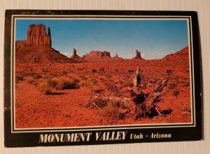 Vintage Postcard Monument Valley Utah Arizona Moab Monticello Blanding 1990 KY