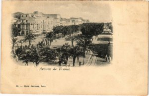 CPA AK TUNISIE Avenue de France (73440)