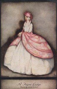 Art Deco ; Jennie HARBOUR ; A Fayre Ladye, 1910s ; TUCK 3801