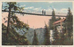 VANCOUVER, British Columbia, Canada, 10-20s; Suspension Bridge, Capilano Canyon