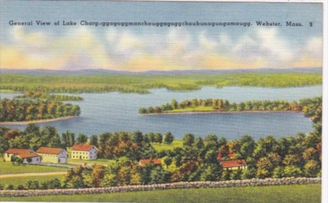 Massachusetts Webster General View Of Lake Chargoggagoggmanchaugagoggchaubuna...