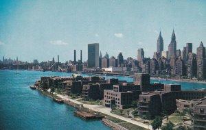 MIDTOWN MANHATTAN SKYLINE, New York City, New York, 1940s-Present; Looking Ac...